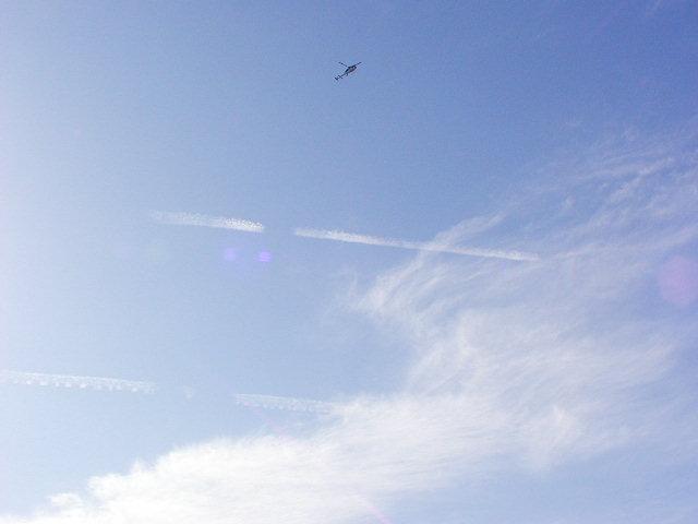 雲 ない 飛行機 消え